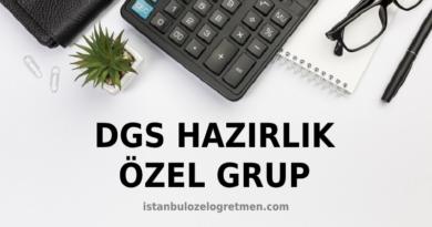 2021 DGS Matematik Hazırlık Özel Grup